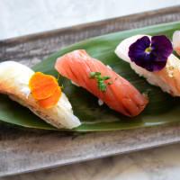 Tobiuo sushi nigiri selection