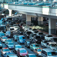 Houston traffic congestion bumper to bumper