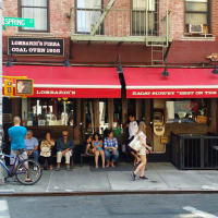Lombardi's Pizza NYC exterior crowd