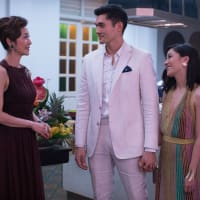 Michelle Yeoh, Henry Golding, and Constance Wu in Crazy Rich Asians