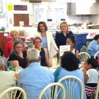 Nancy Pelosi Sylvia Garcia Gerardo's restaurant