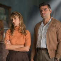 Melanie Laurent and Oscar Isaac in Operation Finale