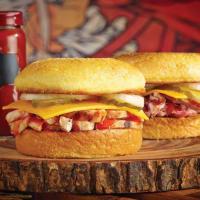 Dickey's cornbread sandwich