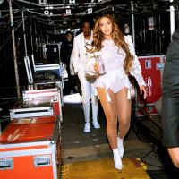 Beyonce Jay Z walking backstage