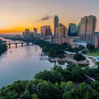 Austin skyline downtown Lady Bird Town Lake