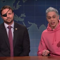 Dan Crenshaw Pete Davidson Saturday Night Live screenshot