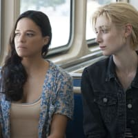 Michelle Rodriguez and Elizabeth Debicki in Widows