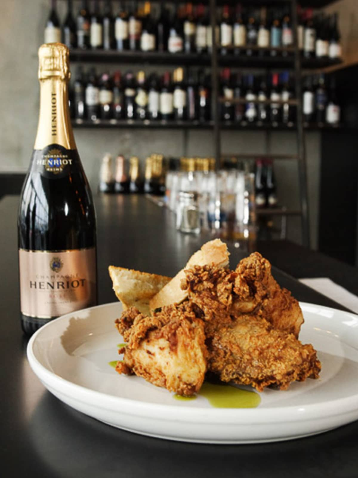 News_Max's Wine Dive_fried chicken_champagne
