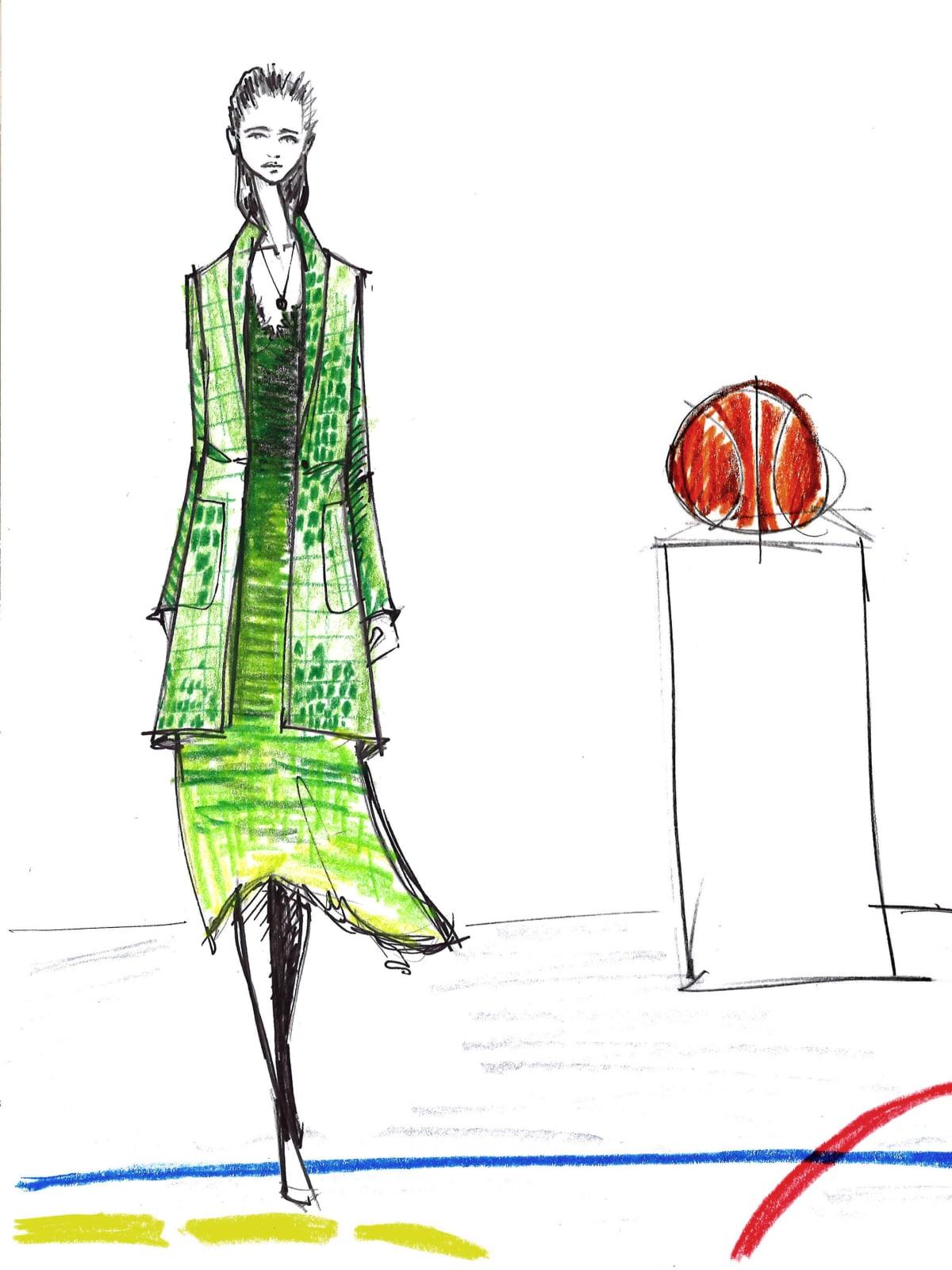 Raquel Allegra designer inspiration sketch spring 2017