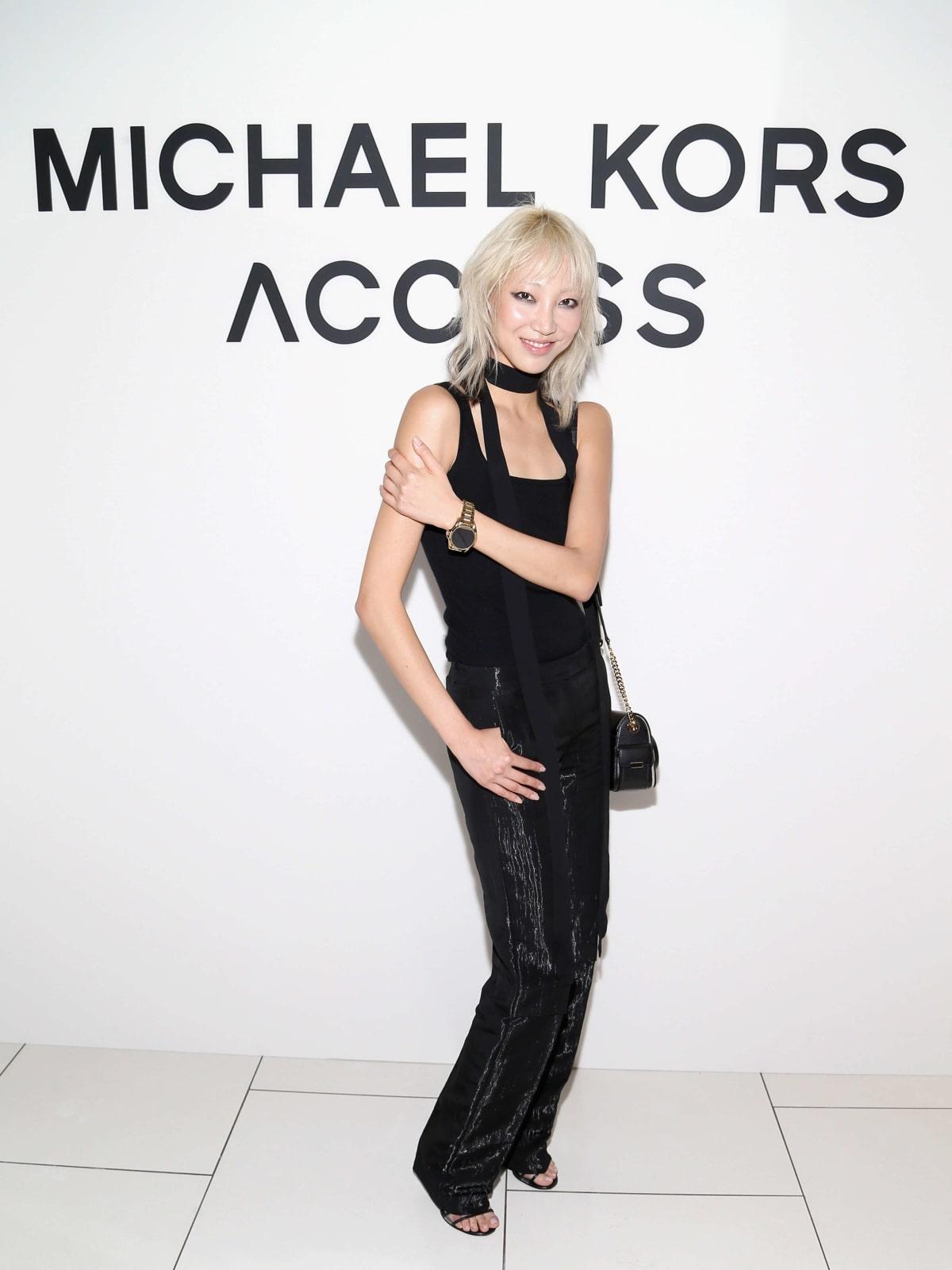 Model Soo Joo Park at Michael Kors Access party