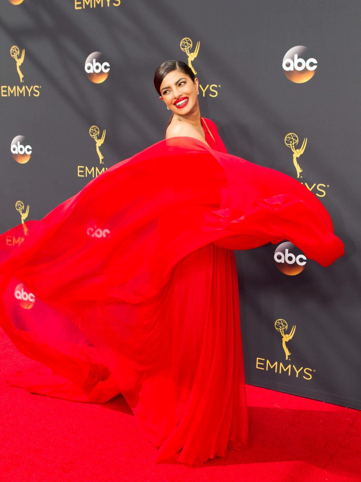 Priyanka Chopra at Emmy Awards in Jason Wu