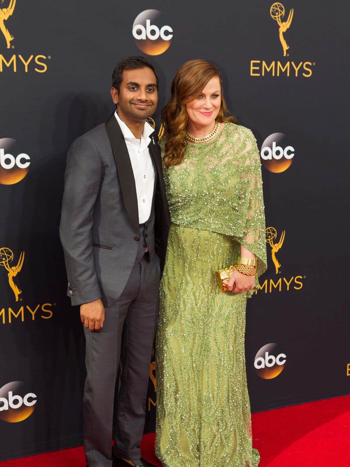 Aziz Ansari and Amy Poehler at Emmy Awards