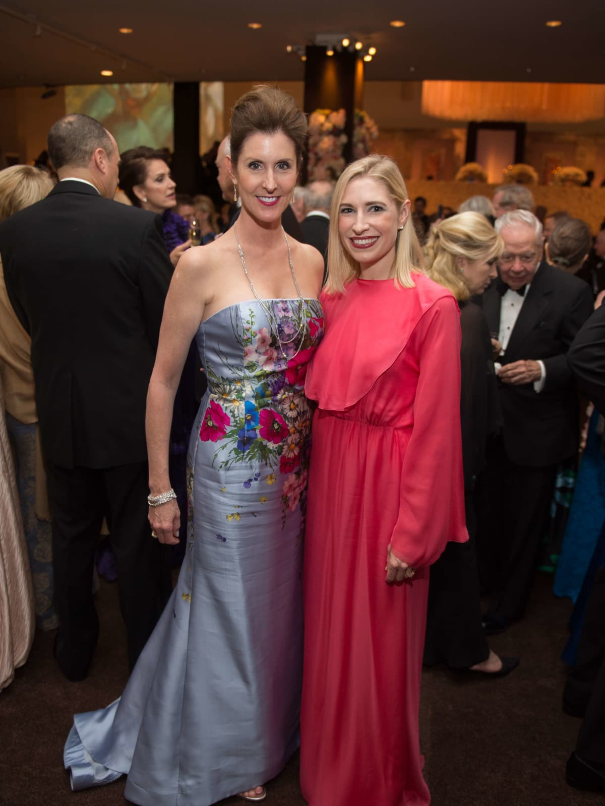 Phoebe Tudor and Isabel David at Museum of Fine Arts Grand Gala Ball