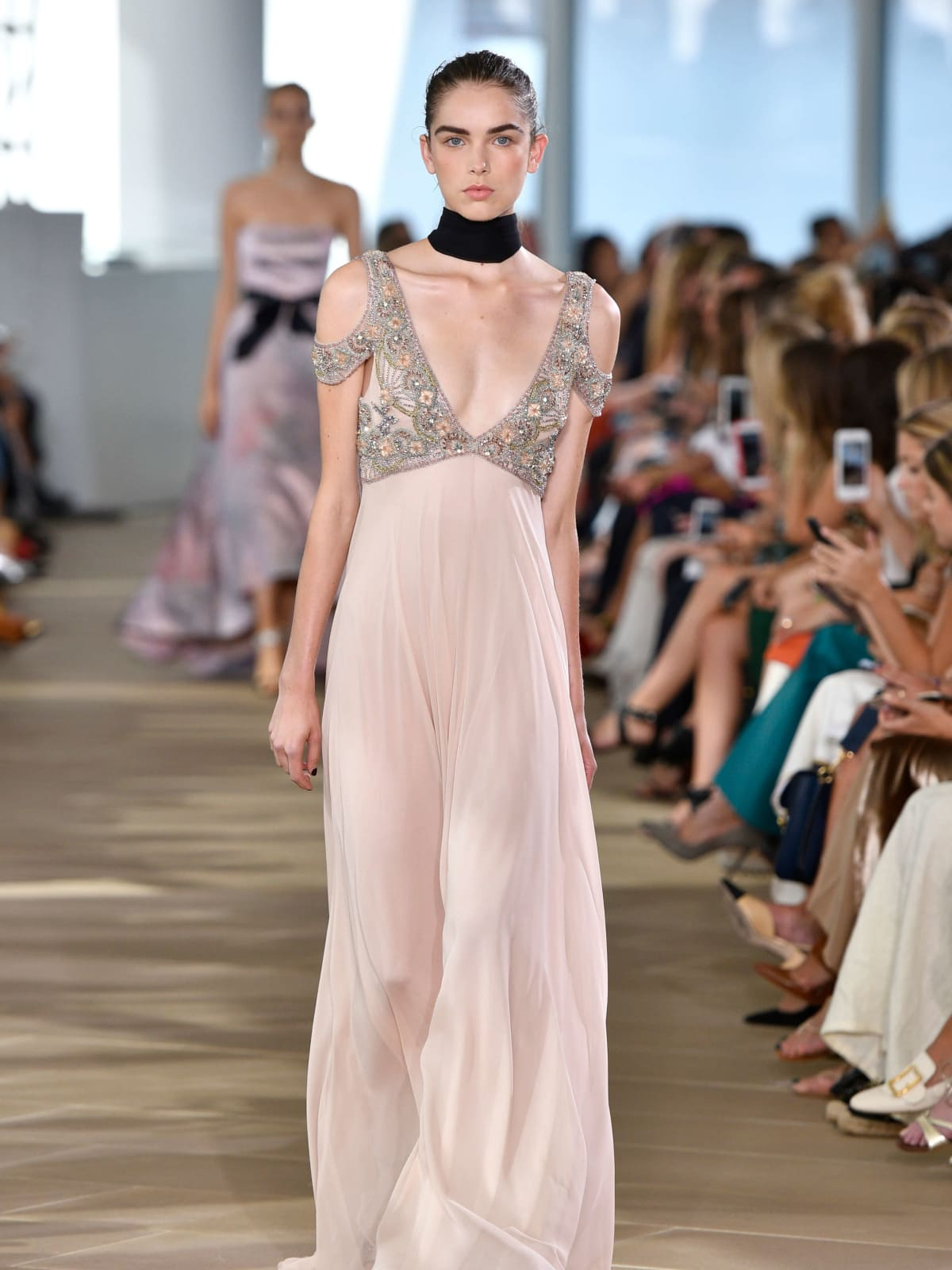 Monique Lhuillier celebrates 20th anniversary with romantic gowns ...