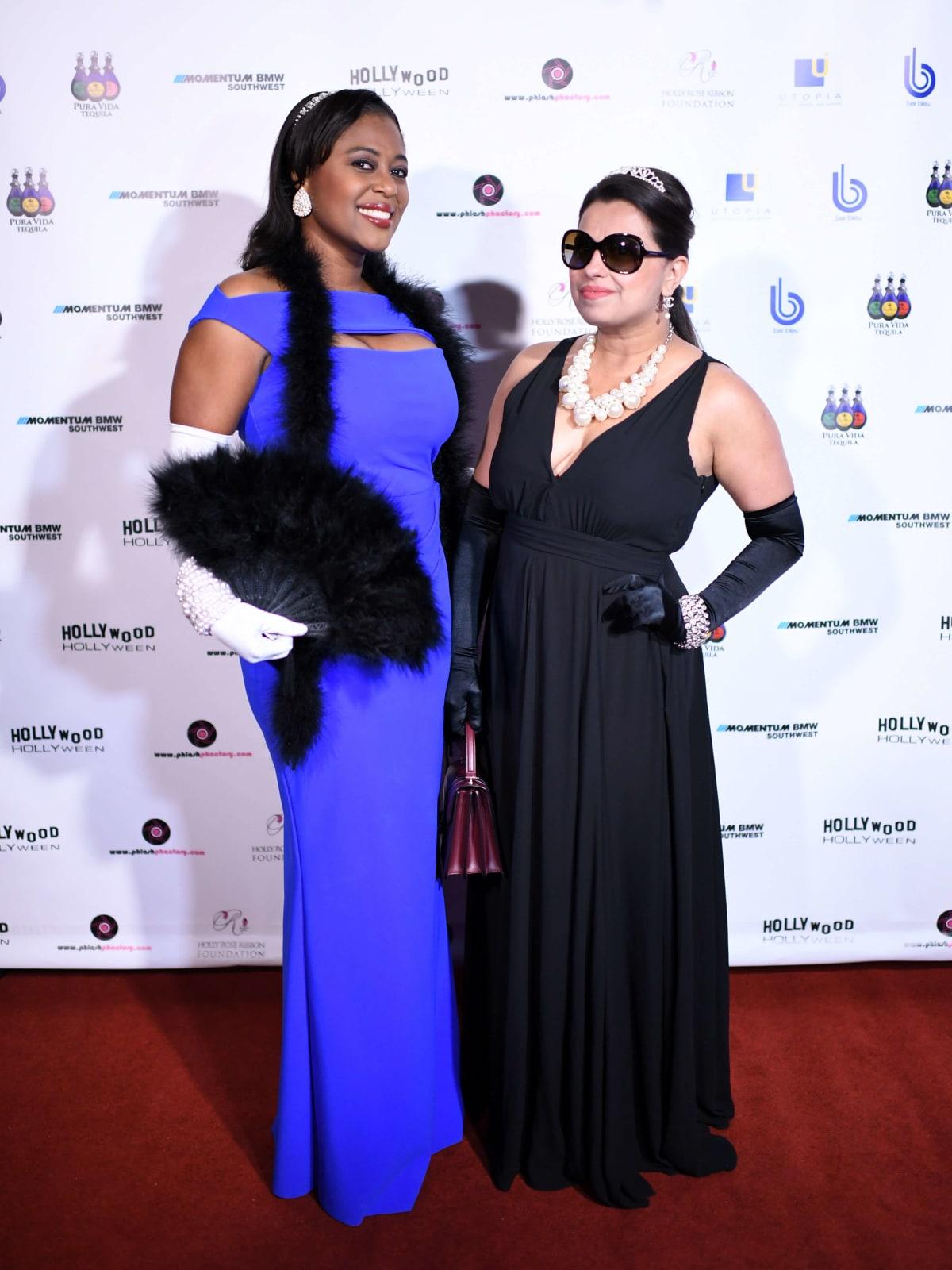 Houston, Hollywood Hollyween Party, Oct. 2016, Sharron Melton, Ruchi Mukerjee