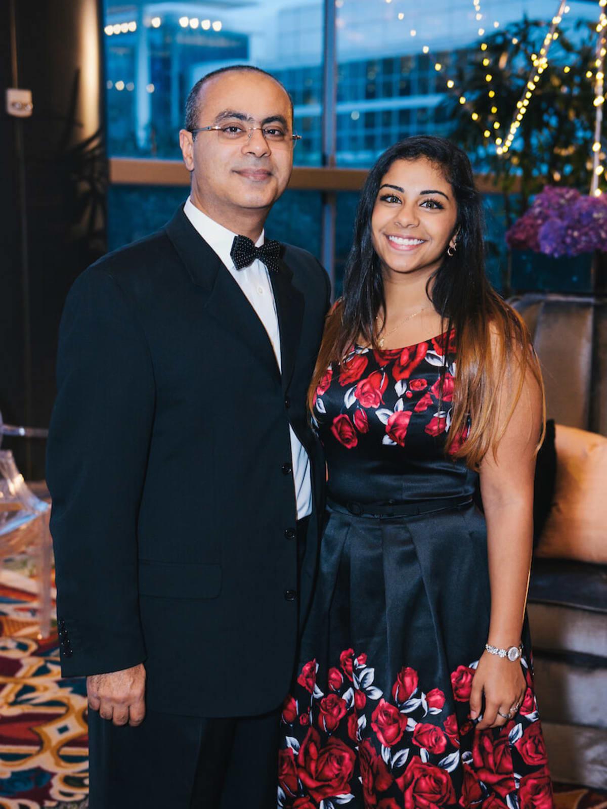 Dr. Maged Mina, Marina Mina at UTHealth Constellation Gala