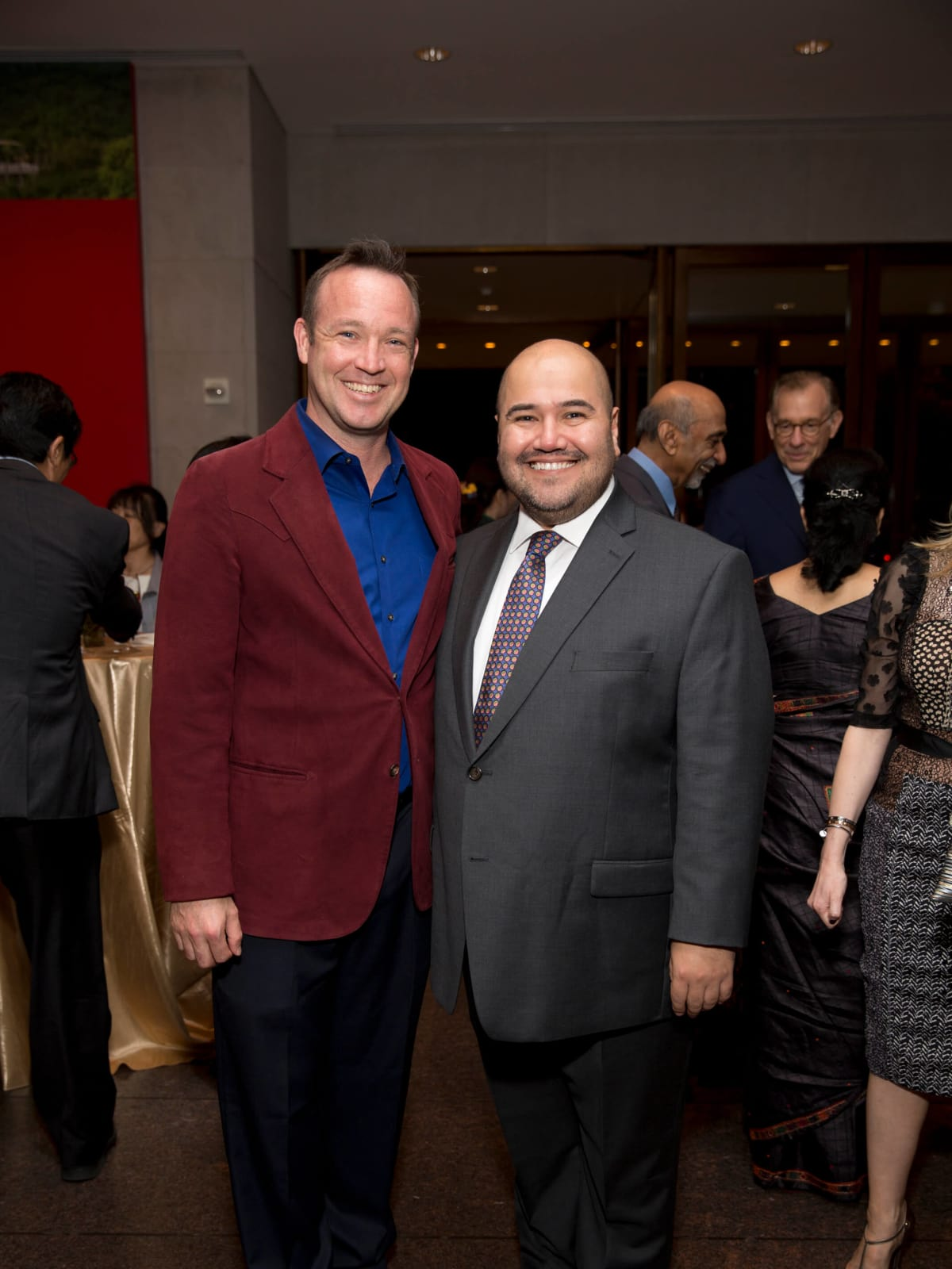 MFAH Emperors Treasures dinner, Charlie Cole, Terence O'Neill