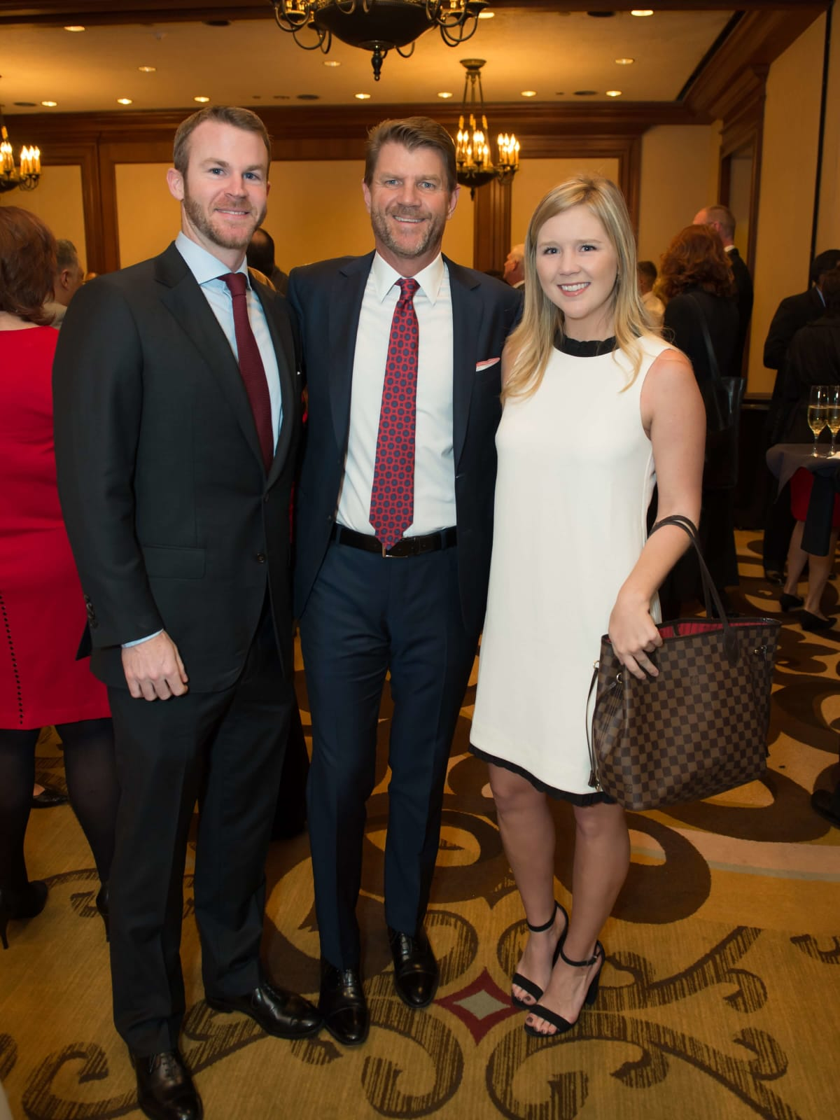 World AIDS Day lunch, Ryan DePuit, Bill Baldwin,Ginger Baldwin