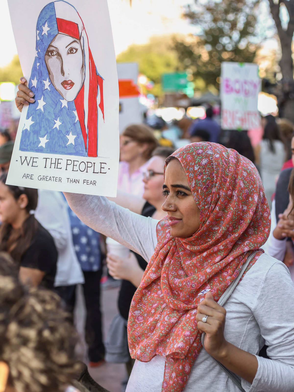 Women's March Austin Hareem Ahmad