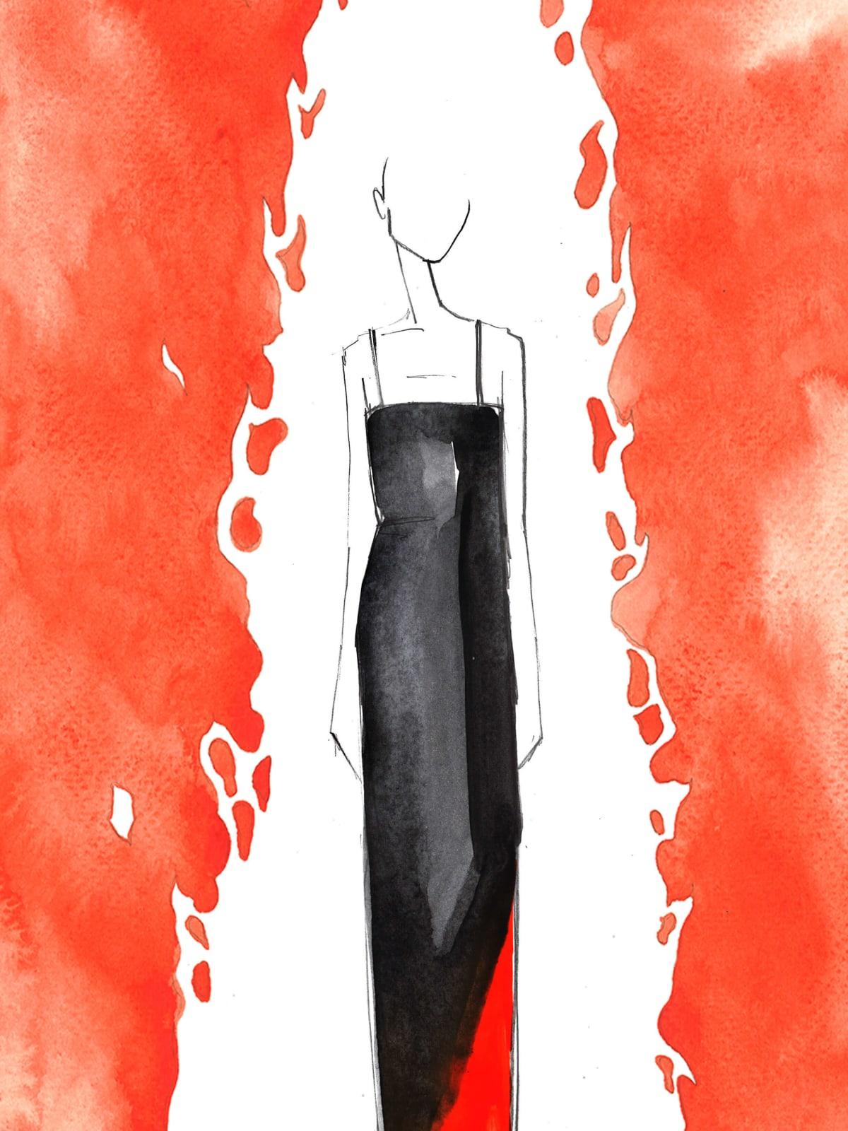 Raquel Allegra New York Fashion Week sketch fall 2017