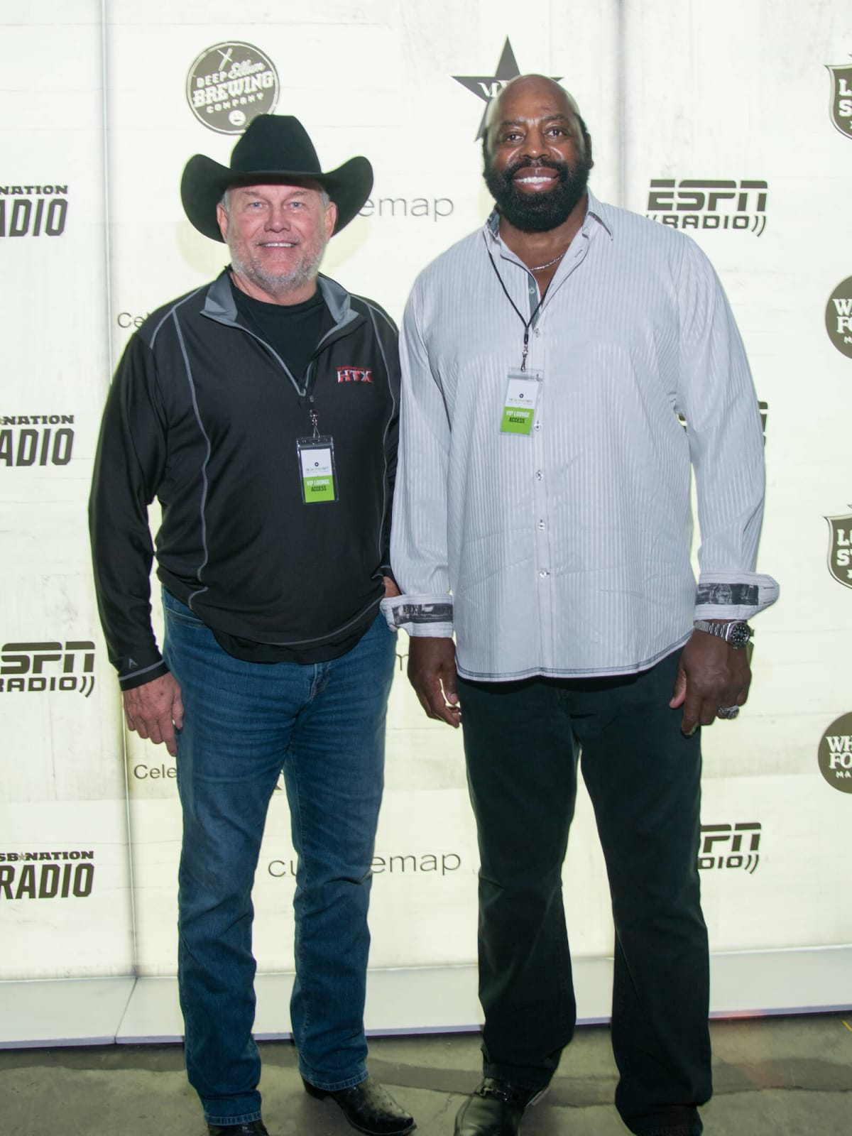 Randy White, Ed Jones at Big Texas Party