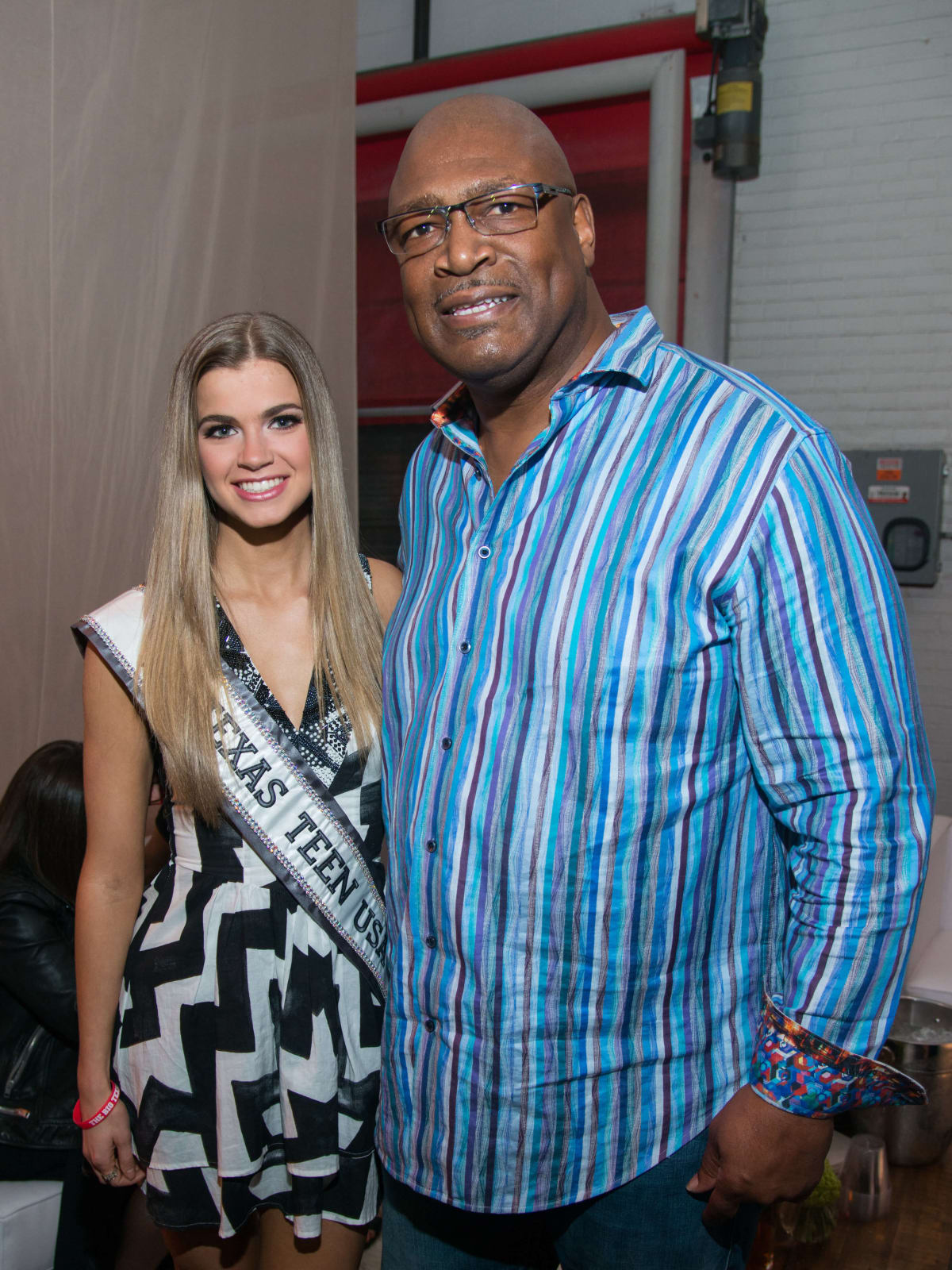 Kirby Lindley, Charles Haley at Big Texas Party