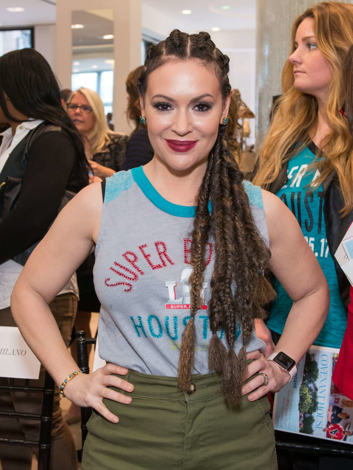 Alyssa Milano/NFL Wives Fashion Show
