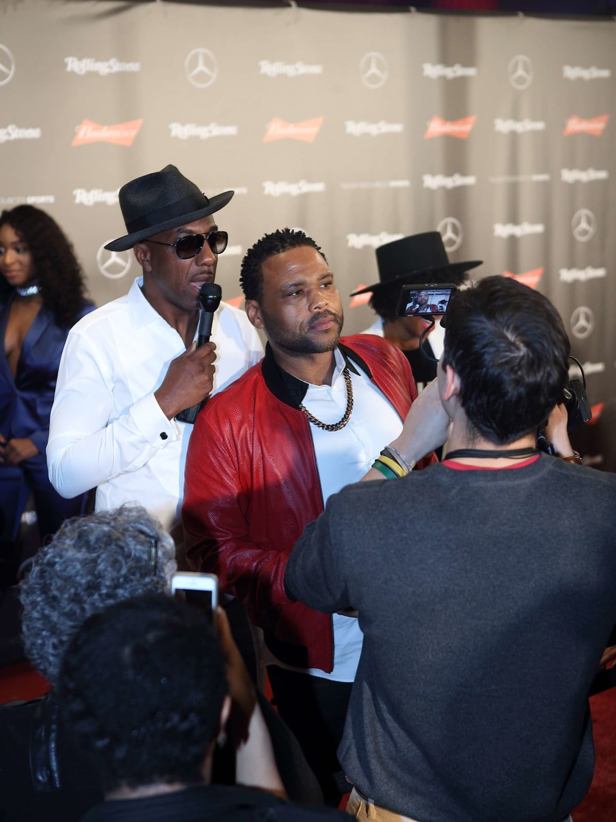 JB Smoove, Anthony Anderson at Rolling Stone party