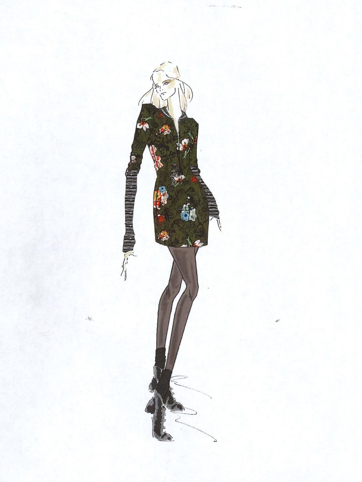 Nicole Miller designer inspiration sketch fall 2017