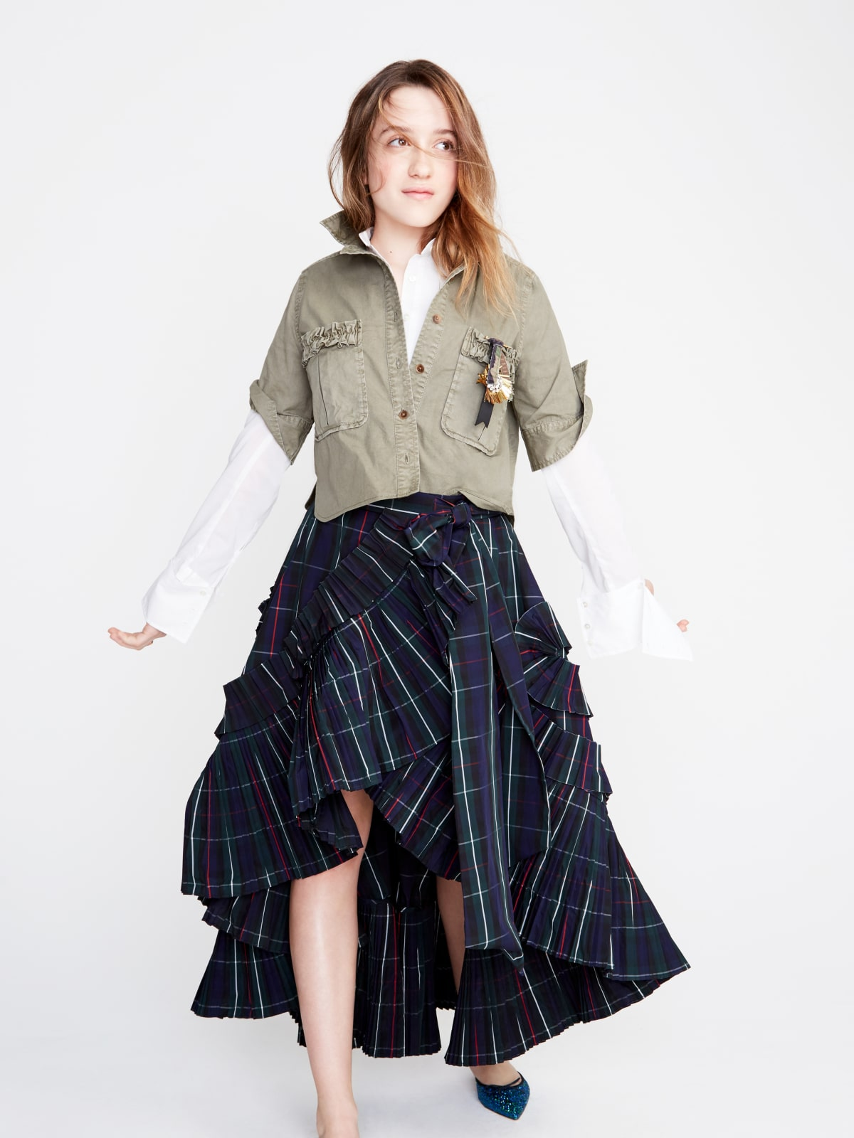 Mathilda Gianopoulos, daughter of Molly Ringwald, models J.Crew fall 2017
