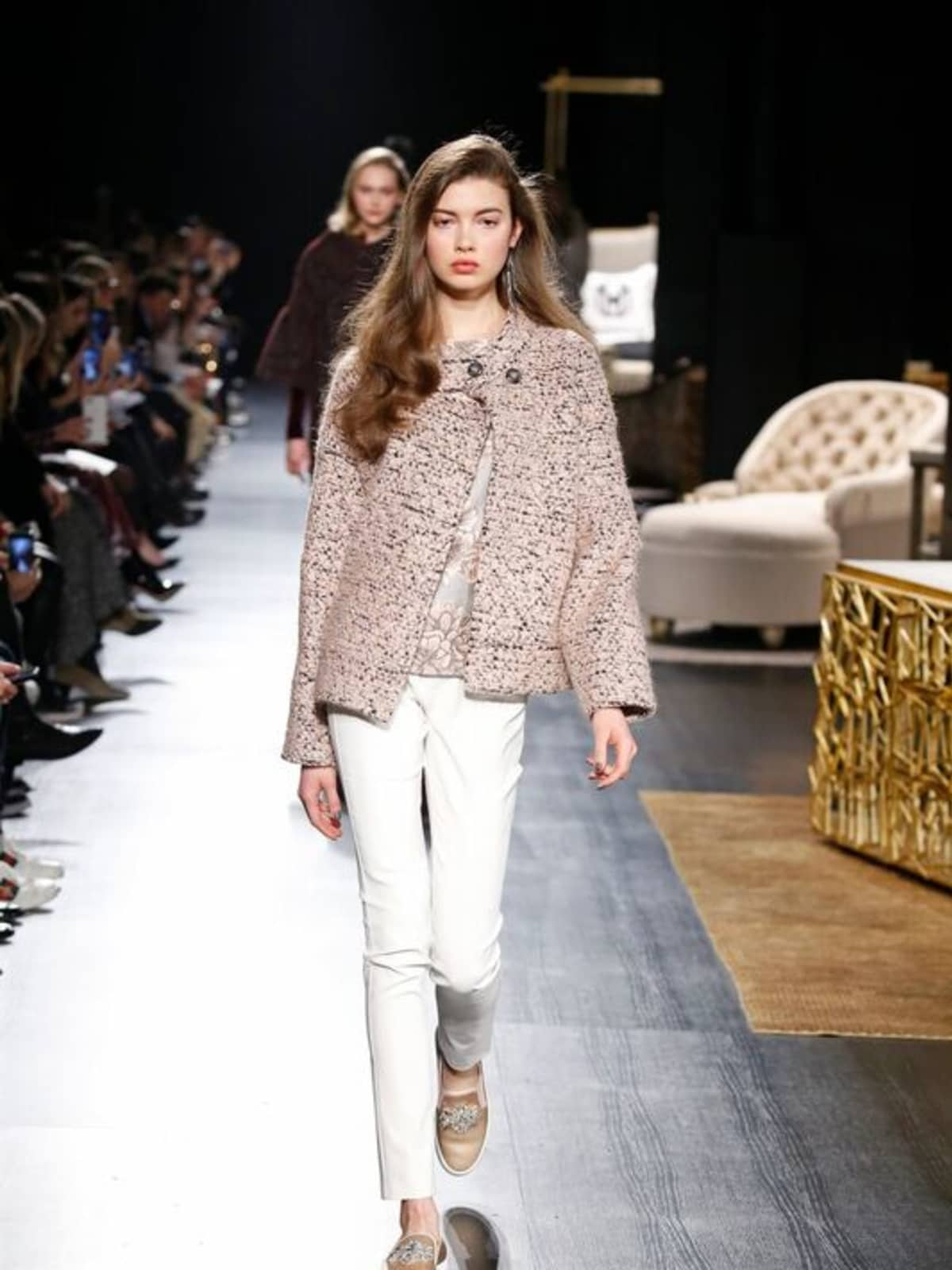 Badgley Mischka fall 2017 sportswear look 6