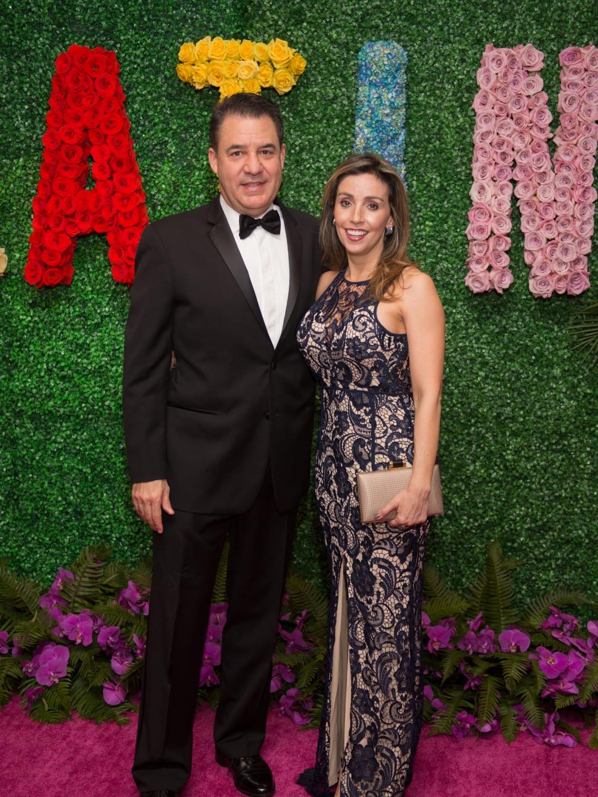 Mauricio Vallejo, Liliana Molina at Latin American Experience Gala