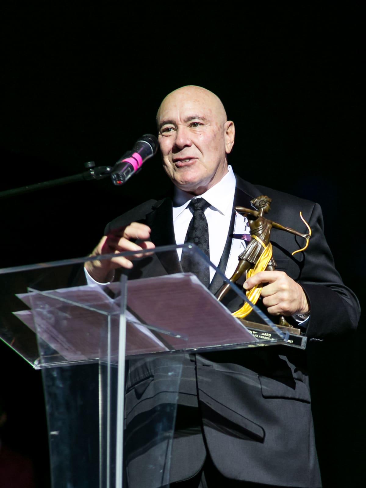 Golden Bow Award recipient Frank Williams at Diana Awards