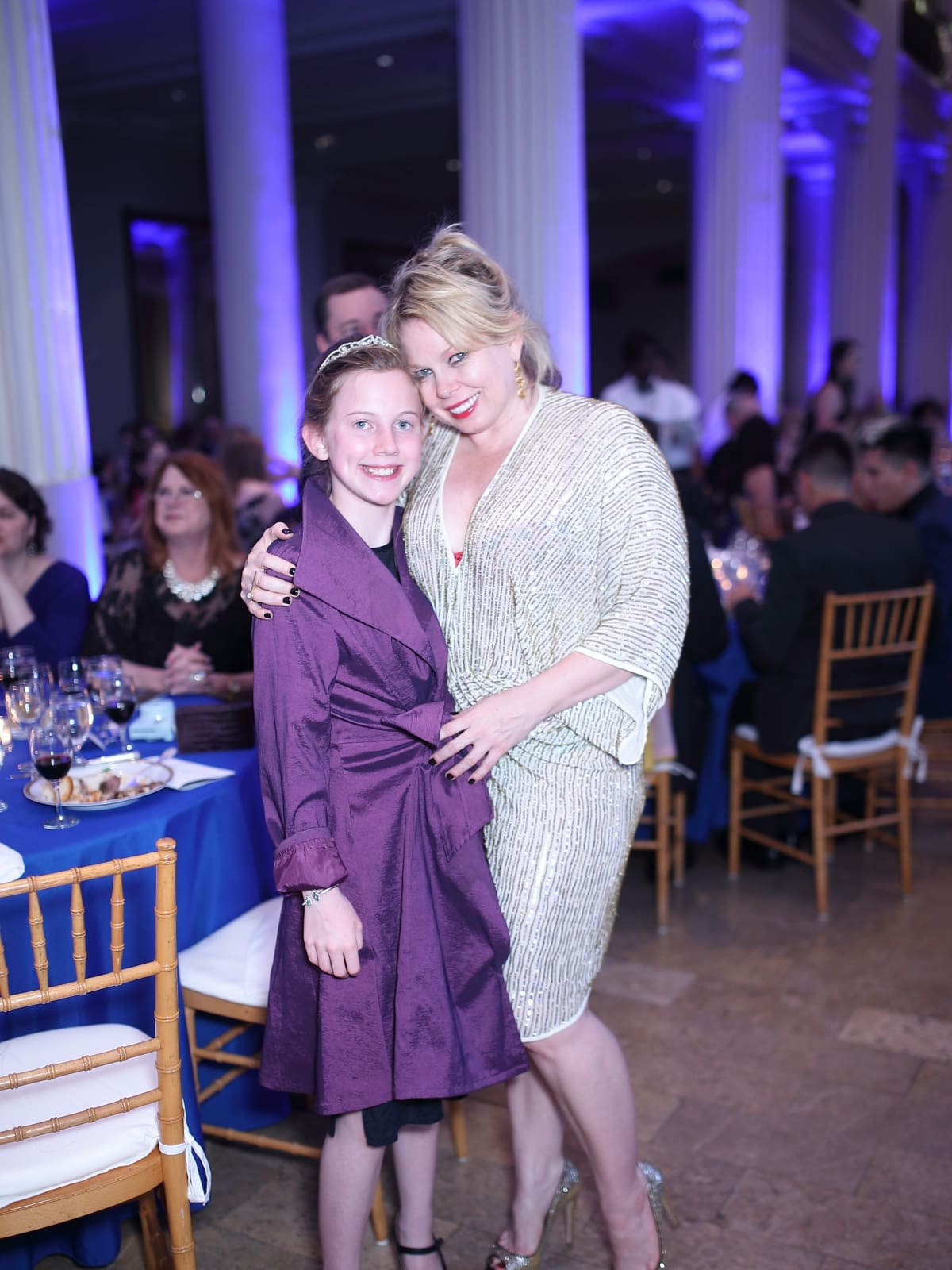 Tammy Dowe and daughter Lillian at Denali Gala