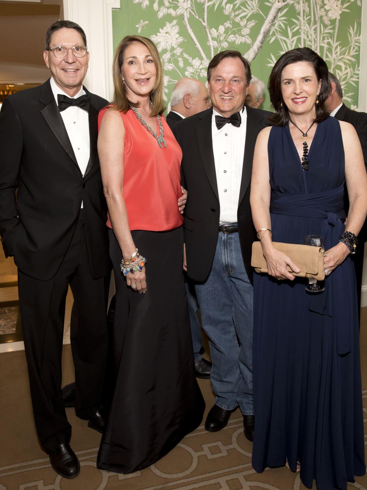 Houston, Blue Bird Circle Gala with Lyle Lovett, April 2017, Scott McClelland, Soraya McClelland, Virginia Tomlinson, Walter Tomlinson