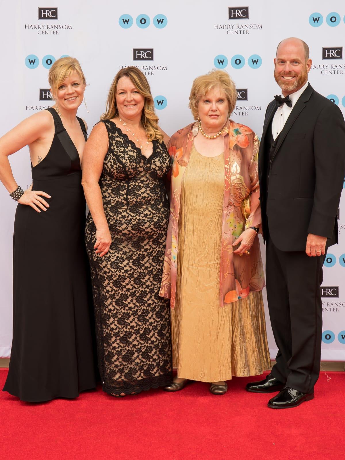 Ransom Center World of Wonders Gala 2017 Julie Hight Liz Losada Margaret Hight Phil Hight
