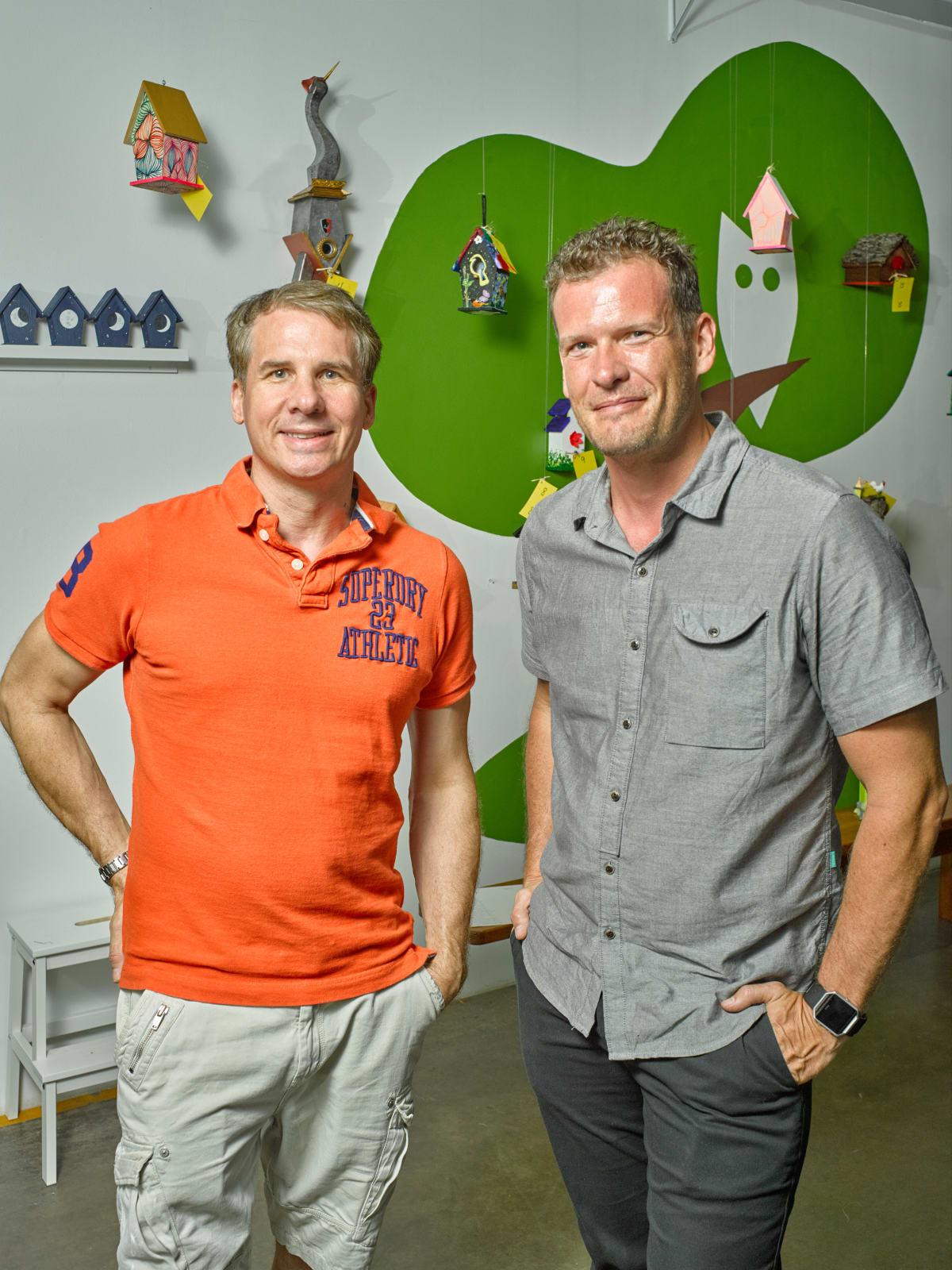 Brad Dupuy, David Czar at Sawyer Yards Artist Stroll