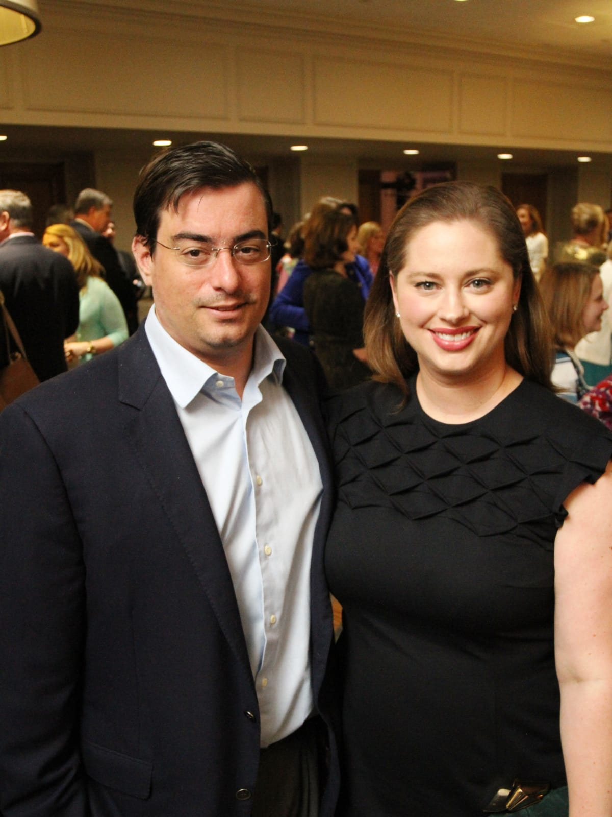 Wells and April McGee at Menninger Clinic Luncheon