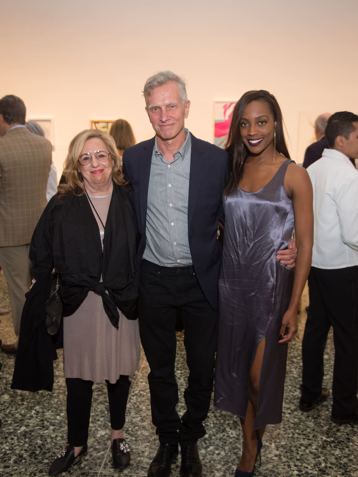 Barbara Davis, Joe Havel, Alecia Harris at Glassell Benefit 2017