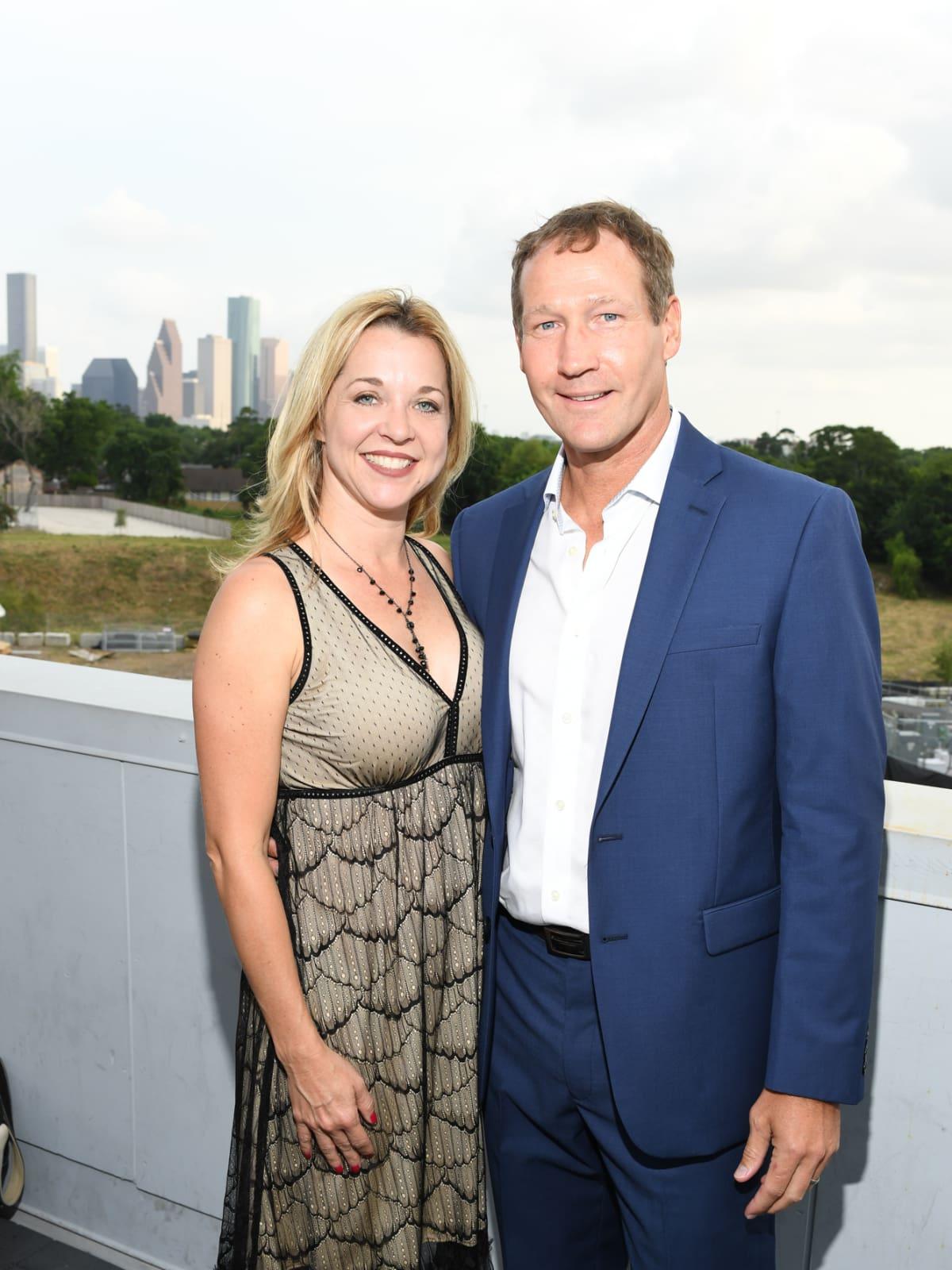 Julie Baker Finck, Ron Finck at Barbara Bush Foundation gala kickoff