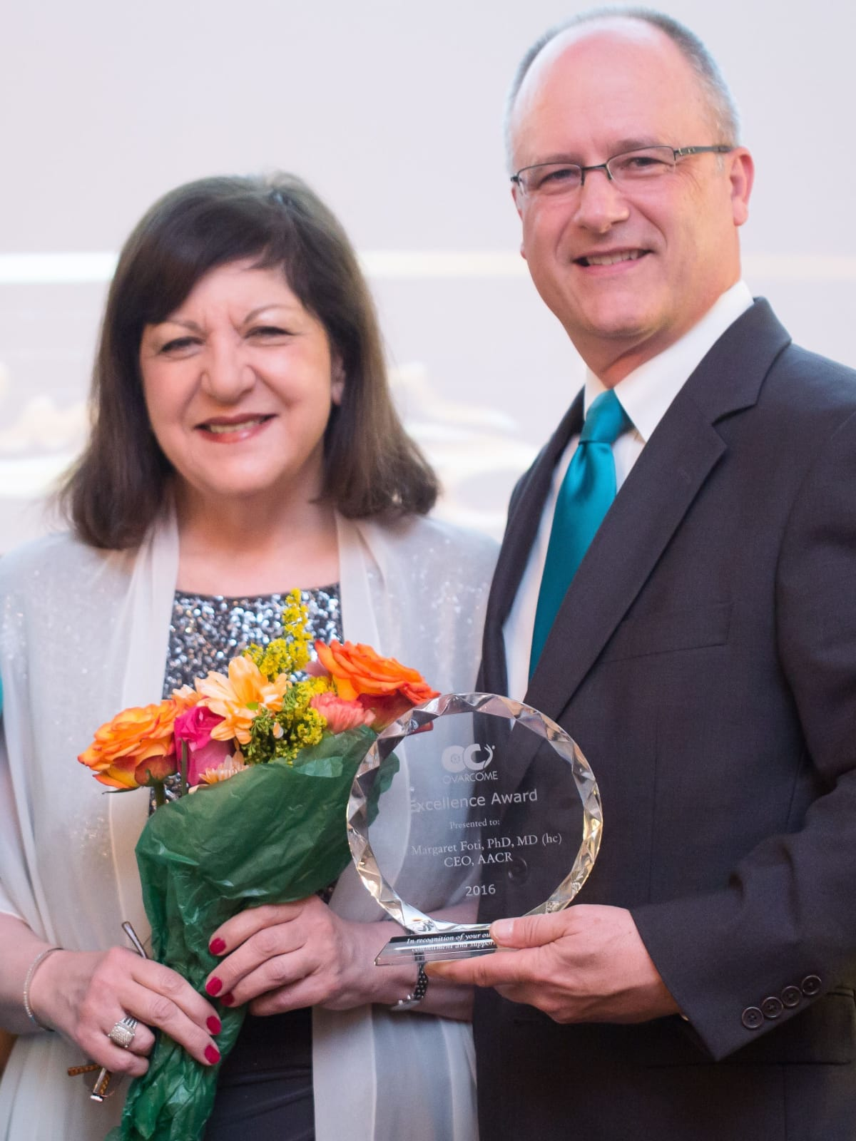 Ovarcome gala, Dr. Margaret Foti and Rob Heifner