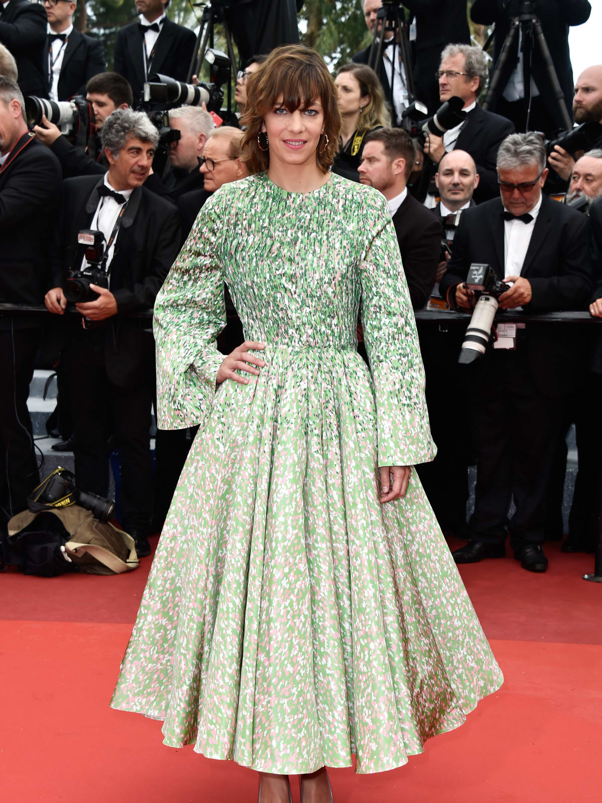 Celine Sallett in Dior at Cannes Film Festival