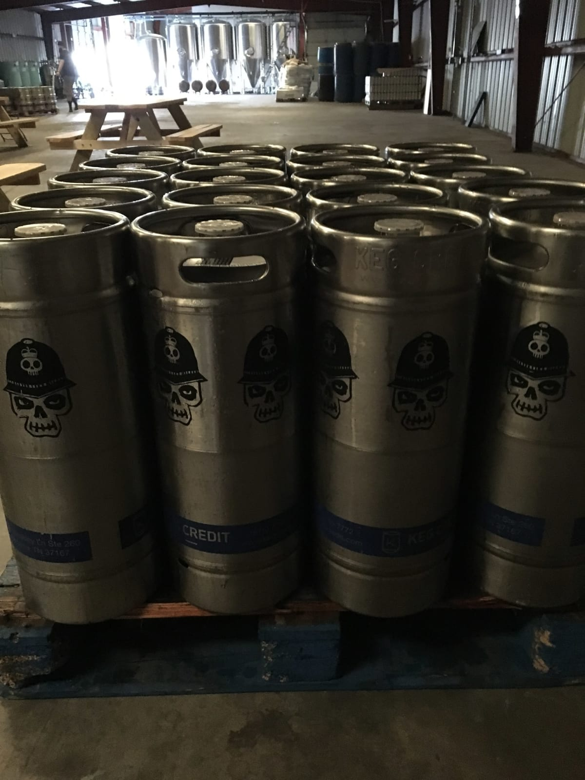 Brash Brewing kegs
