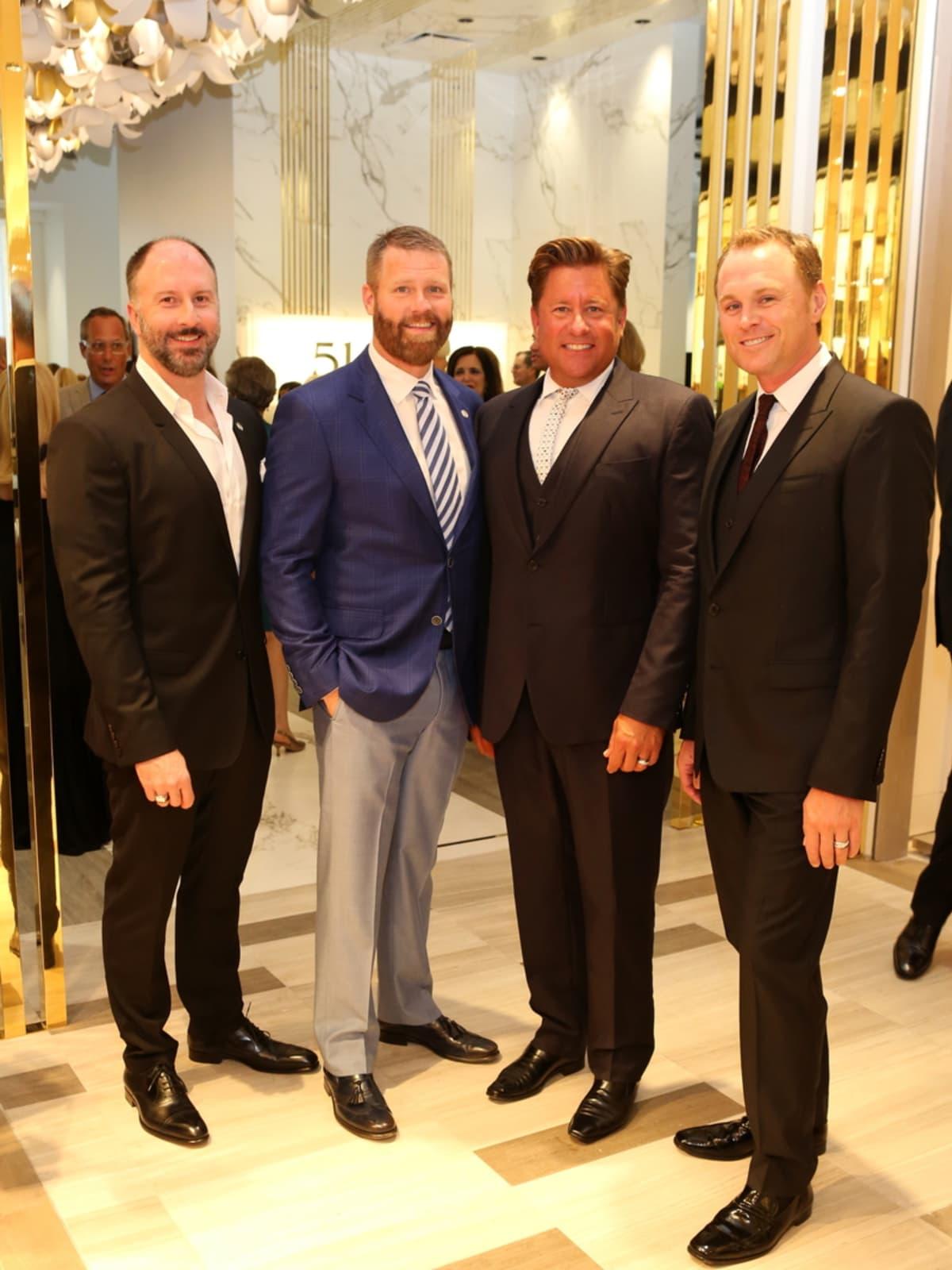 Saks Opening Dinner for HGO 4/16, Tony Bradfield, Kevin Black, Brian Teichman, Andrew Cordes