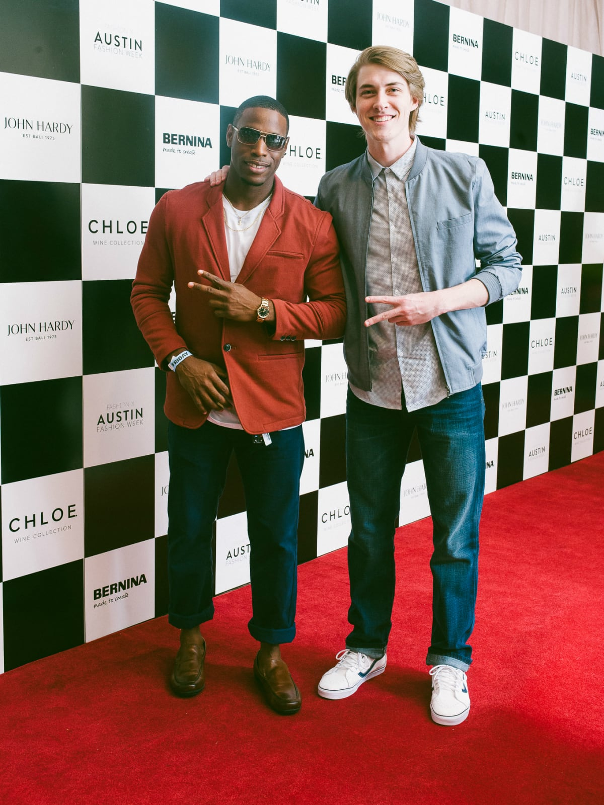 Austin Fashion Week 2016 red carpet Andre Williams Mike Seitz
