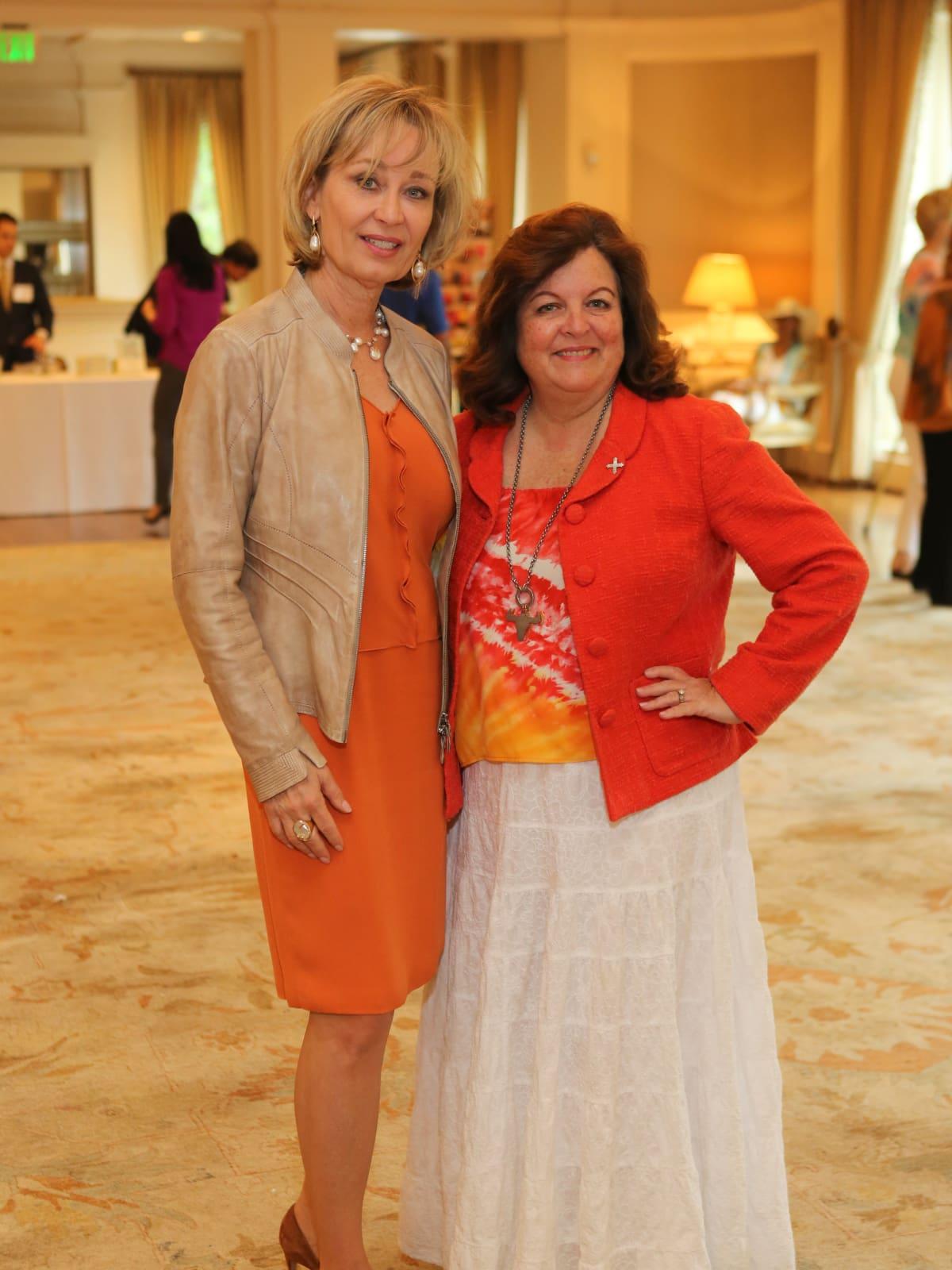 Partners Luncheon 4/16, Cathy Borlenghi, Carolyn Moody Drake
