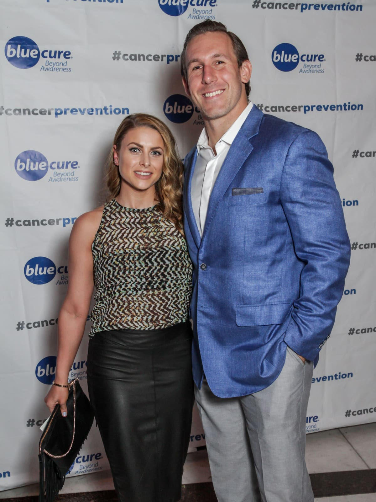 Blue Cure Gala, April 2016, Angela Mecca, Owen Daniels