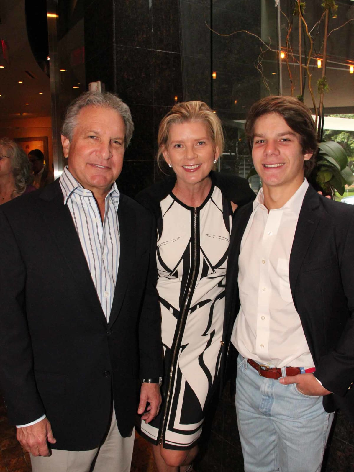 ESCAPE dinner, 4/16, Doug Schnitzer, Melissa Schnitzer, son