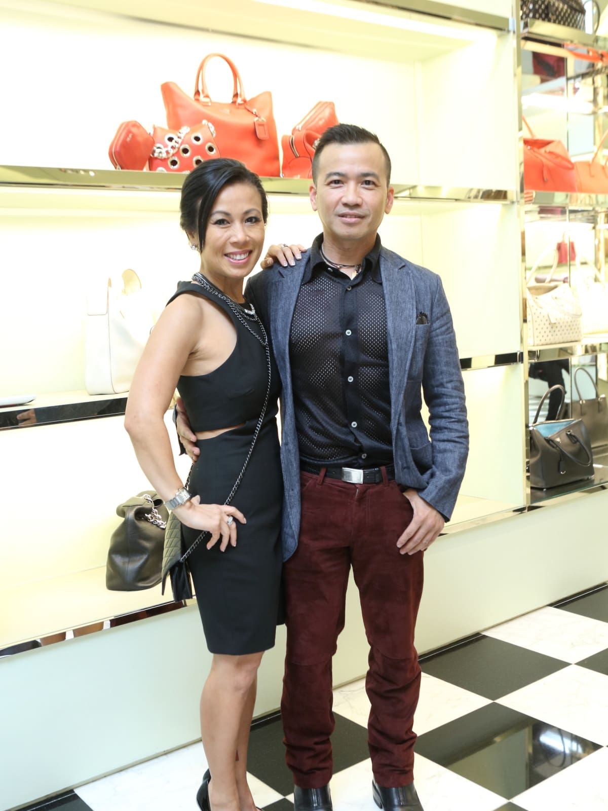 Chau Nguyen, Viet Hoang at APAHA kickoff party at Prada