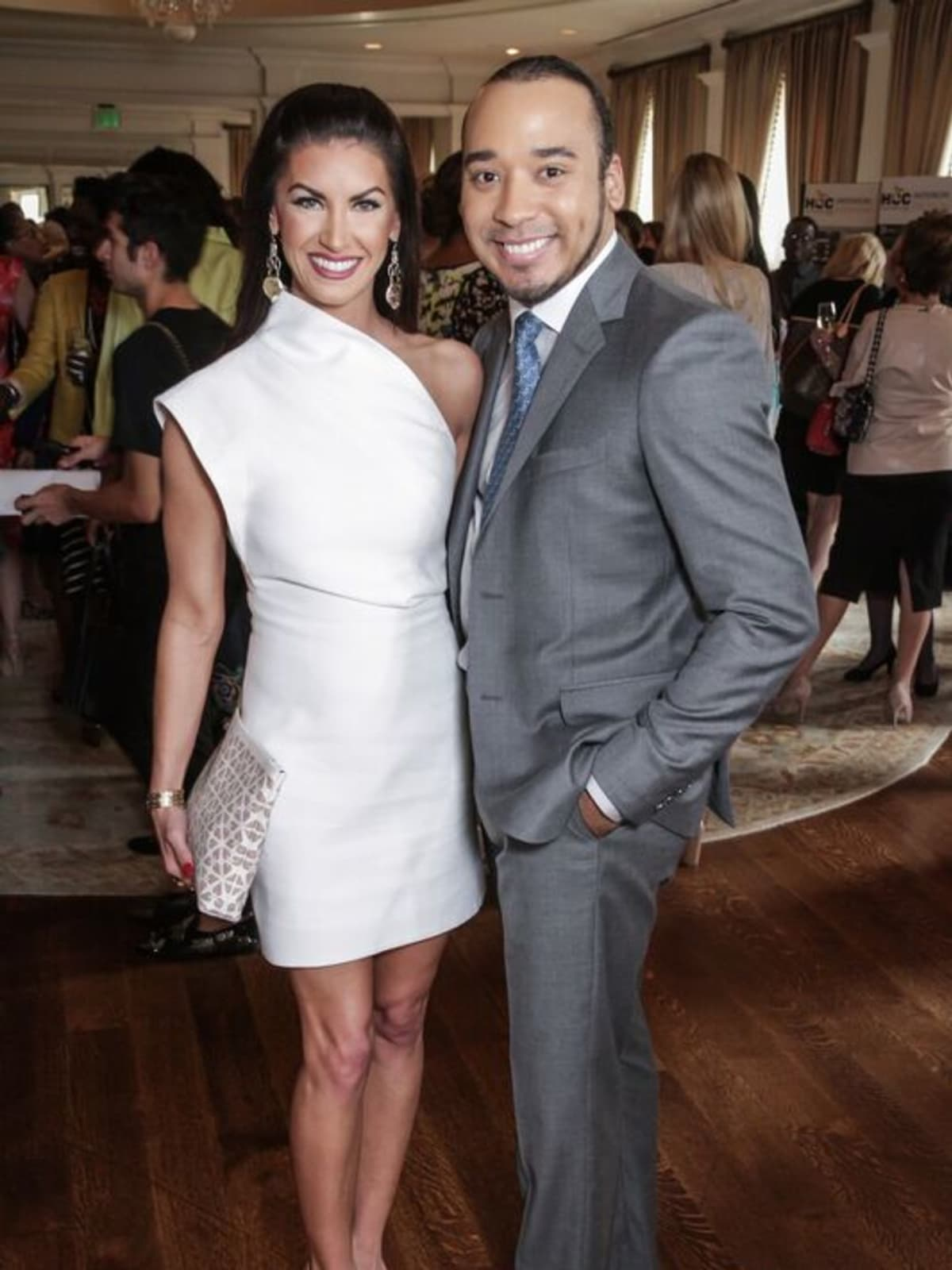 Nicole Lassiter, Brandon McClendon at Passion for Fashion luncheon